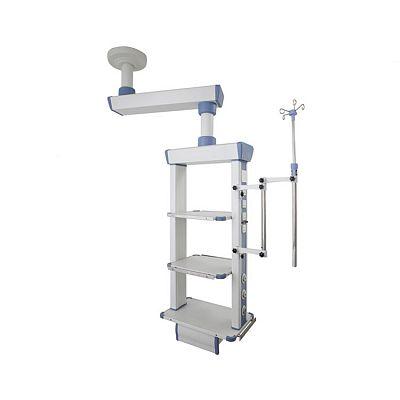 Carretilla de endoscopia para estación de trabajo de enfermería móvil